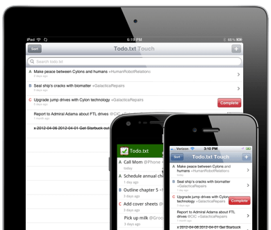 Todo.txt mobile apps